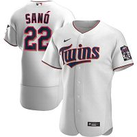 Men's Nike Minnesota Twins #22 Miguel Sano White Home 2020 Authentic Player MLB Jersey