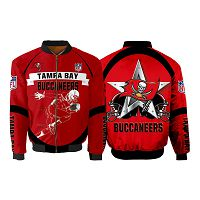 Men's Tampa Bay Buccaneers Newest Bomber 3D Fullzip Custom Jacket 02
