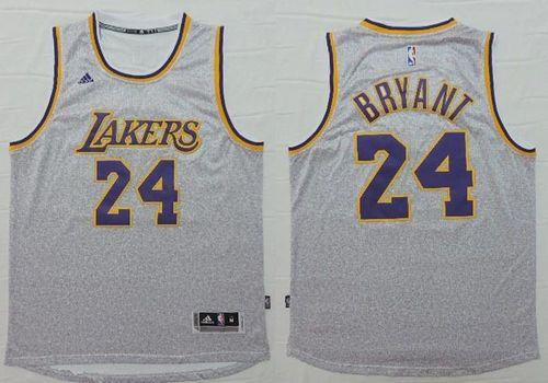 Los Angeles Lakers #24 Kobe Bryant Grey Fashion Stitched NBA Jersey