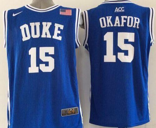 Duke Blue Devils #15 Jahlil Okafor Blue Basketball New Stitched NCAA Jersey
