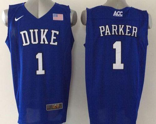 Duke Blue Devils #1 Jabari Parker Blue Basketball Elite Stitched NCAA Jersey