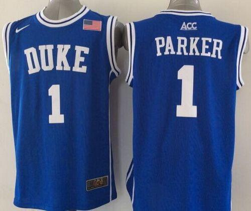 Duke Blue Devils #1 Jabari Parker Blue Basketball New Stitched NCAA Jersey