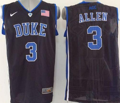 Duke Blue Devils #3 Grayson Allen Black Basketball Stitched NCAA Jersey