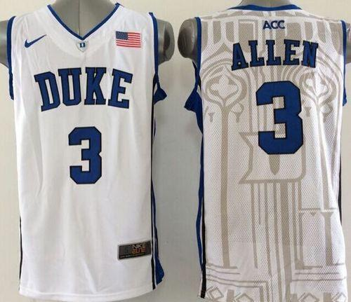 Duke Blue Devils #3 Grayson Allen White Basketball New Stitched NCAA Jersey