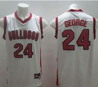 Fresno State Bulldogs #24 Paul George White Basketball Stitched NCAA Jersey