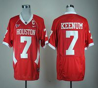Houston Cougars #7 Case Keenum Red C-USA Patch Stitched NCAA Jersey