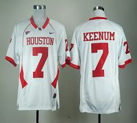Houston Cougars #7 Case Keenum White C-USA Patch Stitched NCAA Jersey