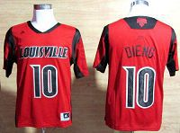 Louisville Cardinals #10 Gorgui Dieng Red Basketball Stitched NCAA Jersey