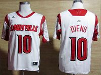 Louisville Cardinals #10 Gorgui Dieng White Basketball Stitched NCAA Jersey