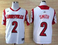 Louisville Cardinals #2 Russ Smith White Basketball Stitched NCAA Jersey