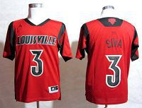 Louisville Cardinals #3 Peyton Siva Red Basketball Stitched NCAA Jersey