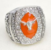 NCAA Texas Longhorns World Champions Silver Ring