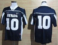 Nevada Wolf Pack #10 Colin Kaepernick Navy Blue WAC Patch Stitched NCAA Jersey