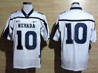 Nevada Wolf Pack #10 Colin Kaepernick White WAC Patch Stitched NCAA Jersey
