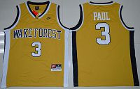 Wake Forest Demon Deacons #3 Chris Paul Gold Basketball Stitched NCAA Jersey