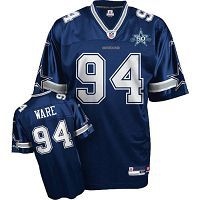 Men's Dallas Cowboys #94 DeMarcus Ware Blue Team 50TH Anniversary Patch Stitched NFL Jersey