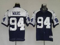 Men's Dallas Cowboys #94 DeMarcus Ware Blue Thanksgiving Stitched Throwback NFL Jersey