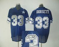 Men's Mitchell And Ness Denver Broncos #33 Tony Dorsett Stitched Blue NFL Autographed Jersey