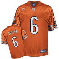 Men's Chicago Bears #6 Jay Culter Orange Stitched NFL Jersey