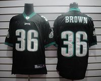 Men's Philadelphia Eagles #36 Ronnie Brown Black Stitched NFL Jersey