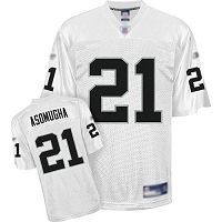 Men's Oakland Raiders #21 Nnamdi Asomugha White Stitched NFL Jersey