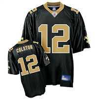 Men's New Orleans Saints #12 Marques Colston Black Stitched NFL Jersey
