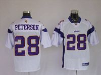 Men's Minnesota Vikings #28 Adrian Peterson White Stitched NFL Jersey
