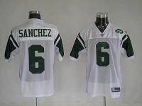 Men's New York Jets Mark Sanchez #6 Stitched White NFL Jersey