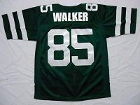 Men's Mitchell And Ness New York Jets #85 Wesley Walker Green Stitched Throwback NFL Jersey