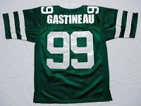 Men's Mitchell And Ness New York Jets #99 Mark Gastineau Green Stitched Throwback NFL Jersey