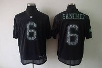 Men's Sideline Black United New York Jets #6 Mark Sanchez Black Stitched NFL Jersey