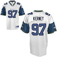 Men's Seattle Seahawks #97 Patrick Kerney White Stitched NFL Jersey