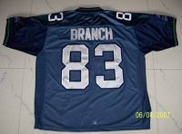 Men's Seattle Seahawks Deion Branch #83 Stitched Blue NFL Jersey