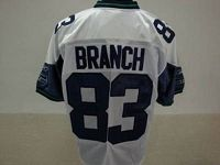 Men's Seattle Seahawks Deion Branch #83 Stitched White NFL Jersey