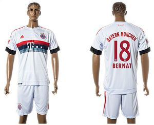 Bayern Munchen #18 Bernat Away (White Shorts) Soccer Club Jersey