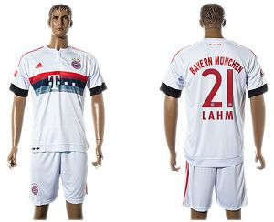 Bayern Munchen #21 Lahm Away (White Shorts) Soccer Club Jersey