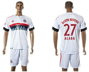 Bayern Munchen #27 Alaba Away (White Shorts) Soccer Club Jersey