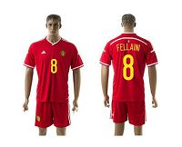 Belgium #8 Fellaini Red Home Soccer Club Jersey