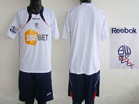 Bolton Wanderers Blank White Home Soccer Club Jersey