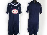 Bordeaux Blank Dark Blue Home Soccer Club Jersey