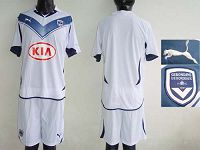 Bordeaux Blank White Soccer Club Jersey