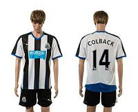 Newcastle #14 COLBACK Home Soccer Club Jersey