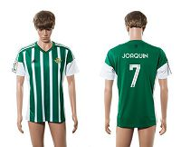 Real Betis #7 Joaquin Home Soccer Club Jersey