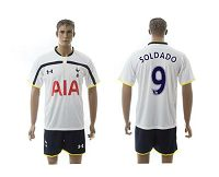 Spurs #9 Soldado White Home Soccer Club Jersey