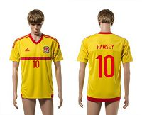Wales #10 Ramsey Away Soccer Club Jersey