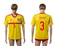 Wales #3 Taylor Away Soccer Club Jersey