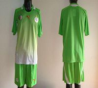 Algeria Blank Green Away 2012/2013 Soccer Country Jersey