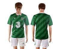 Ireland Blank Home Soccer Country Jersey