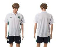 Ireland Blank White Away Soccer Country Jersey