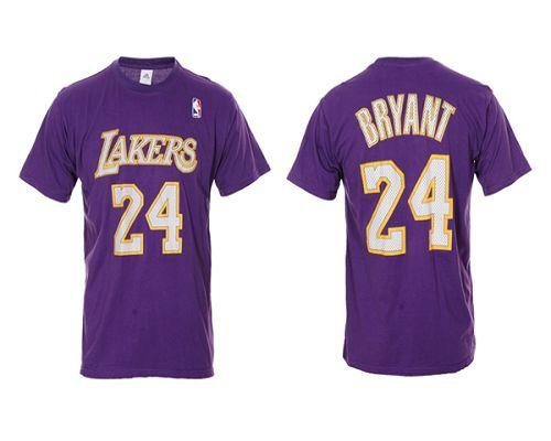 Los Angeles Lakers #24 Kobe Bryant Purple NBA T-Shirts